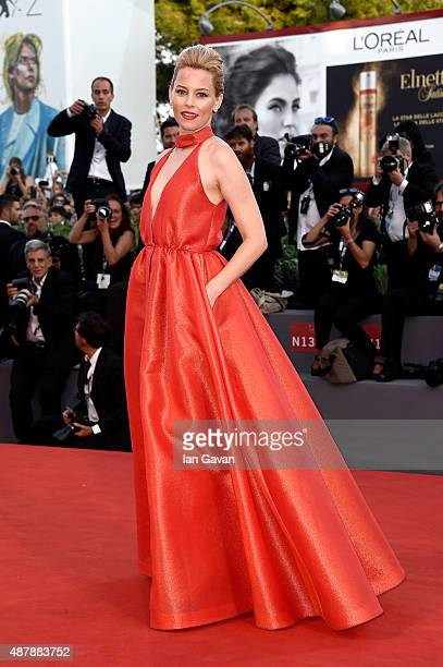 Elizabeth Banks attends the closing ceremony and premiere of 'Lao Pao Er' during the 72nd Venice Film Festival on September 12 2015 in Venice Italy