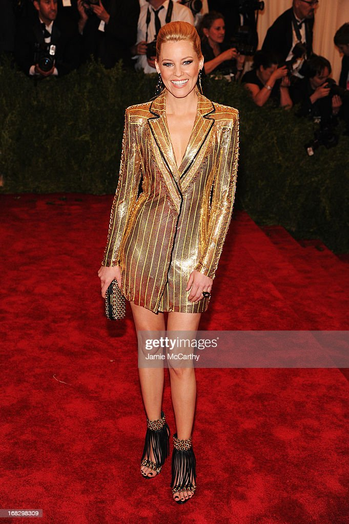 Elizabeth Banks attends the Costume Institute Gala for the 'PUNK: Chaos to Couture' exhibition at the Metropolitan Museum of Art on May 6, 2013 in New York City.