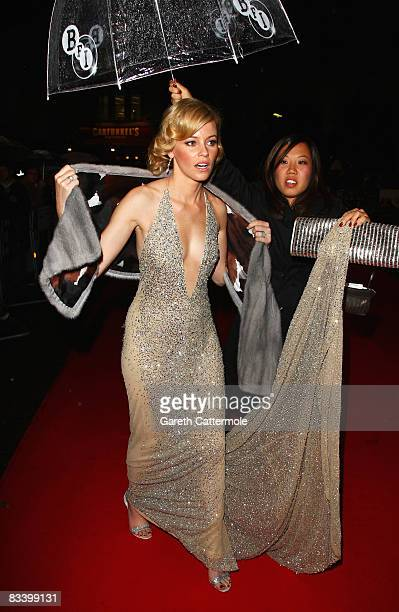 Elizabeth Banks attends the Gala Screening of 'W' as part of the Times BFI 52nd London Film Festival held at the Odeon Leicester Square on October 23...