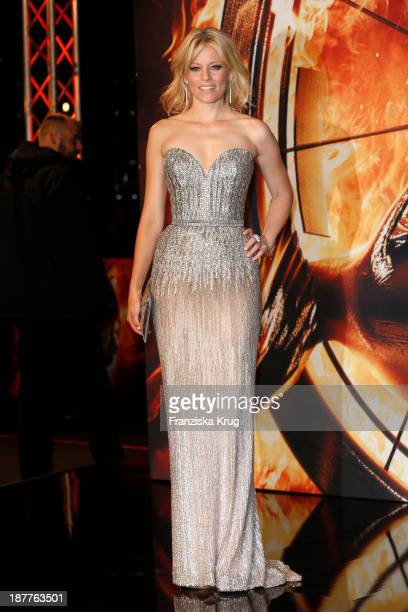 Elizabeth Banks attends the German premiere of the film 'The Hunger Games Catching Fire' at Sony Centre on November 12 2013 in Berlin Germany