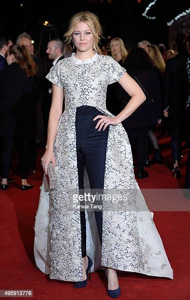 Elizabeth Banks attends The Hunger Games Mockingjay Part 2 UK Premiere at Odeon Leicester Square on November 5 2015 in London England
