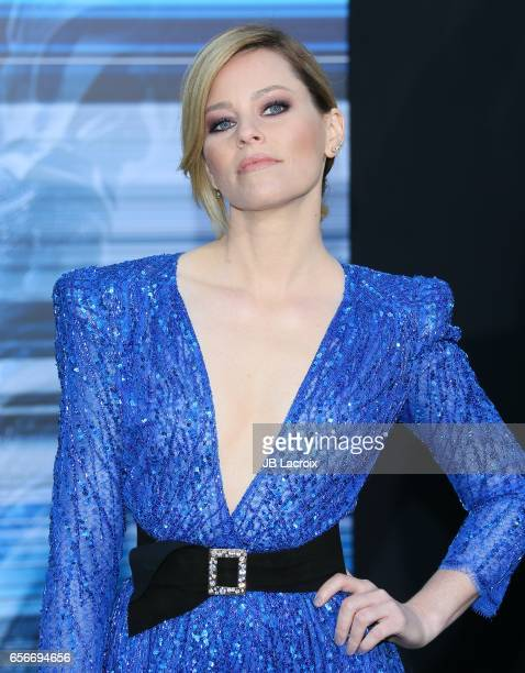 Elizabeth Banks attends the premiere of Lionsgate's 'Power Rangers' on March 22 2017 in Westwood California