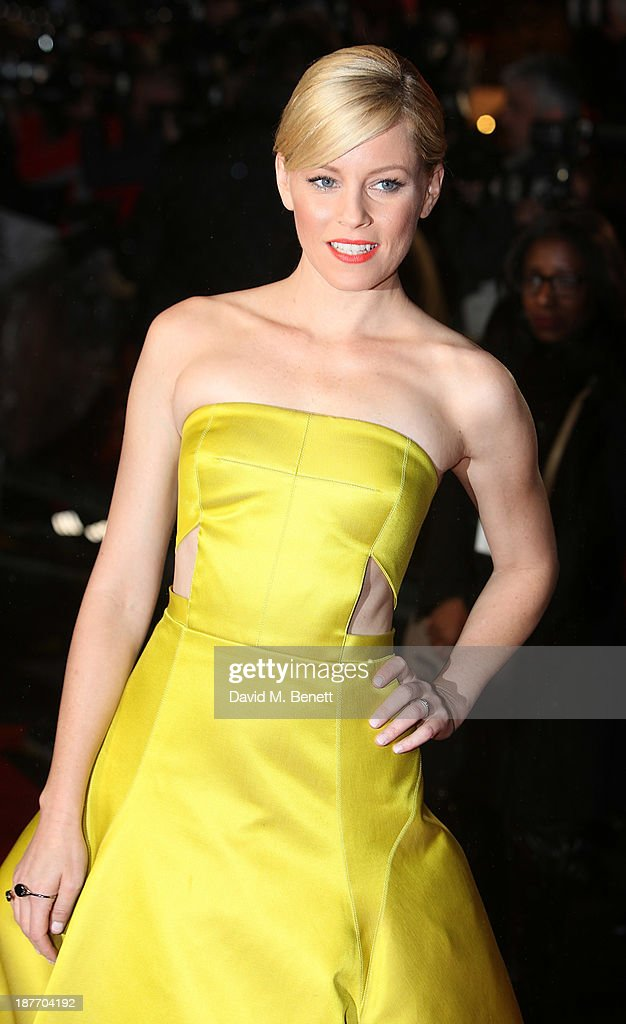 Elizabeth Banks attends the UK Premiere of 'The Hunger Games: Catching Fire' at Odeon Leicester Square on November 11, 2013 in London, England.