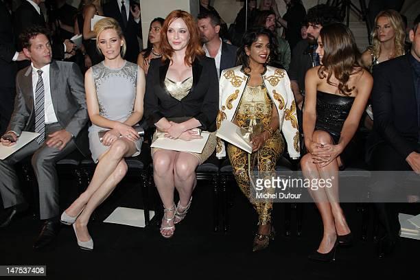Elizabeth Banks Christina Hendricks MIA and Jessica Alba attend the Versace HauteCouture Show as part of Paris Fashion Week Fall / Winter 2012/13 on...