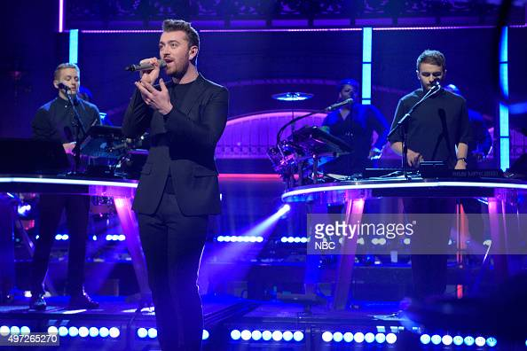 LIVE 'Elizabeth Banks' Episode 1688 Pictured Musical guest Disclosure performs with Sam Smith on November 14 2015