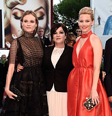 Elizabeth Banks Lynne Ramsay and Diane Kruger attend the closing ceremony and premiere of 'Lao Pao Er' during the 72nd Venice Film Festival on...