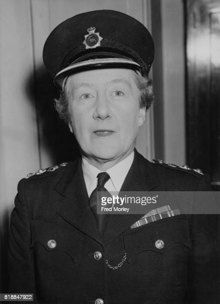 Elizabeth Bather OBE Chief Superintendent of the Metropolitan Women's Police Force 12th February 1958