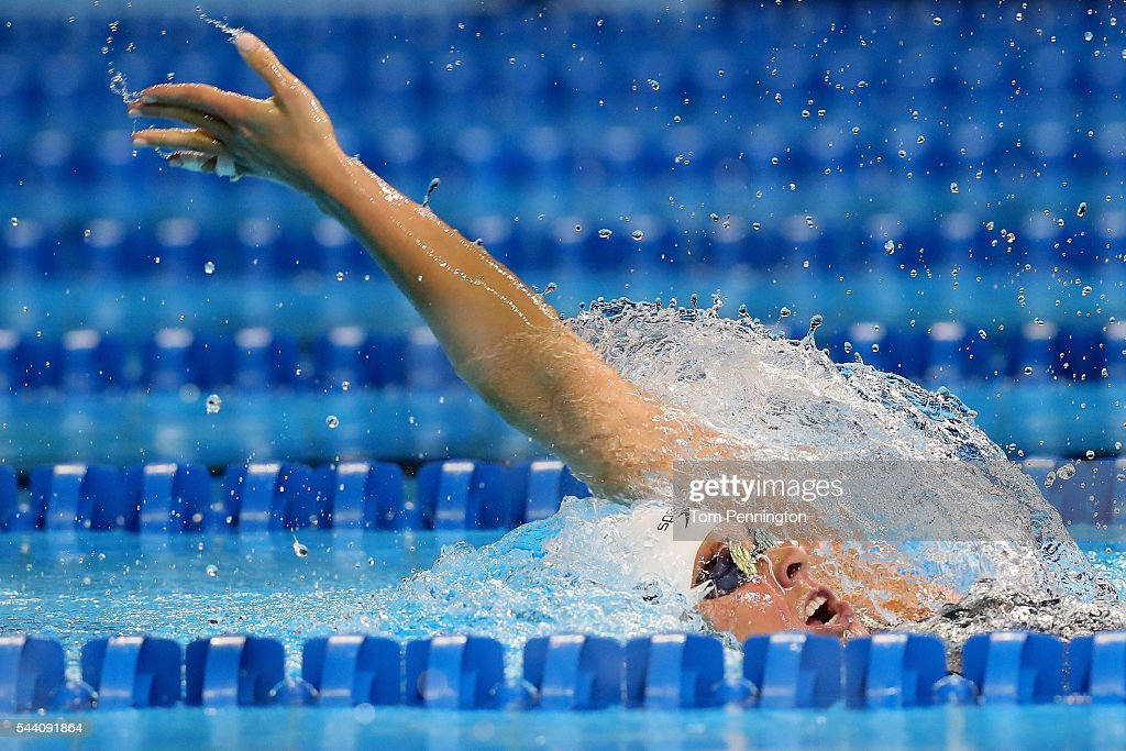 <a gi-track='captionPersonalityLinkClicked' href=/galleries/search?phrase=Elizabeth+Beisel&family=editorial&specificpeople=4651274 ng-click='$event.stopPropagation()'>Elizabeth Beisel</a> of the United States competes in a heat for the Women's 200 Meter Backstroke during Day Six of the 2016 U.S. Olympic Team Swimming Trials at CenturyLink Center on July 1, 2016 in Omaha, Nebraska.