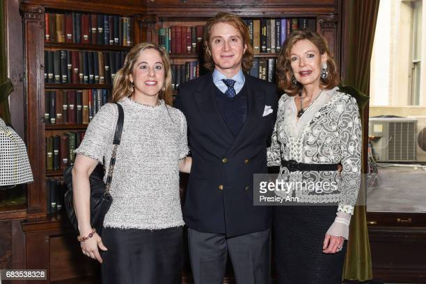 Elizabeth Belfer Eric Javits Jr and Margo Langenberg attend Audrey Gruss' Hope for Depression Research Foundation Dinner with Author Daphne Merkin at...