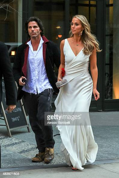 Elizabeth Berkley and Greg Lauren are seen leaving their Downtown hotel on April 10 2014 in New York City