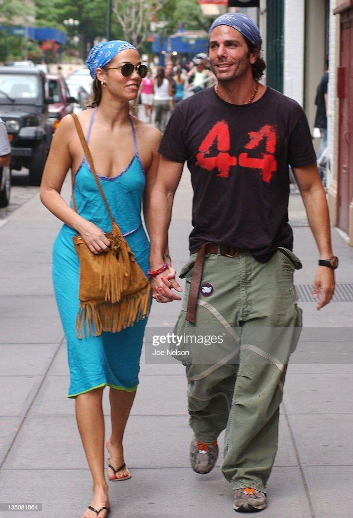 Elizabeth Berkley and Greg Lauren during Elizabeth Berkley and Greg Lauren Sighting in New York City June 12 2005 at Street of New York City in New...