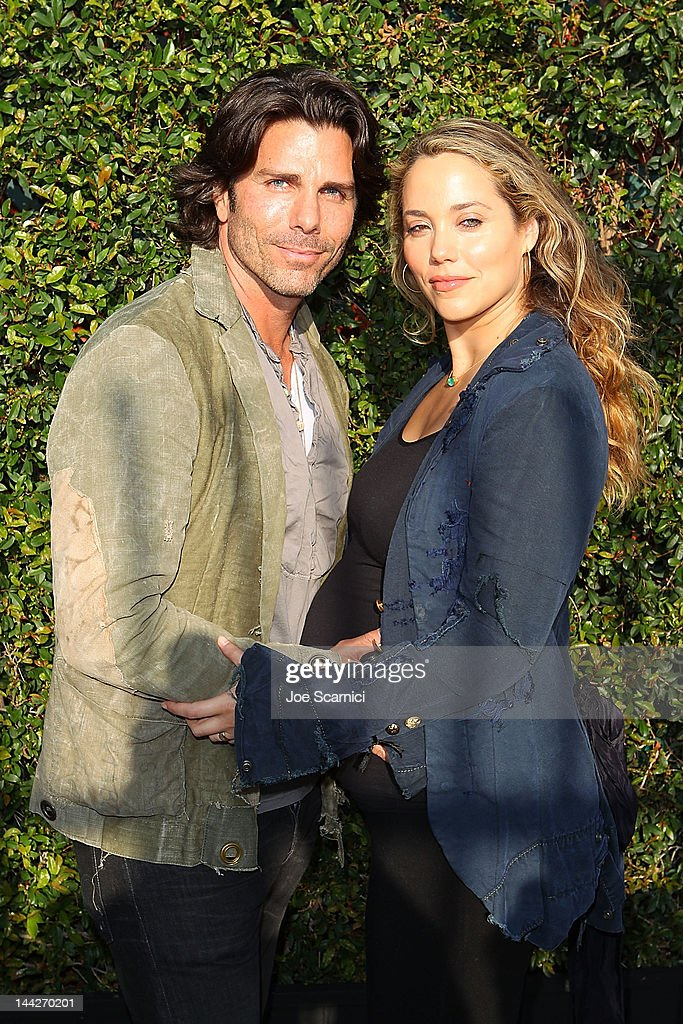 Elizabeth Berkley and husband Greg Lauren attend the MOCA Los Angeles presents 'Rebel' exhibition opening and reception on May 12 2012 in Los Angeles...