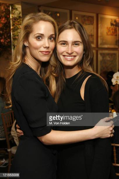 Elizabeth Berkley and Lauren Bush during iVillage Cares Luncheon and Paperback Release of Arianna Huffington's 'On Becoming Fearless' at MichaelÍs...