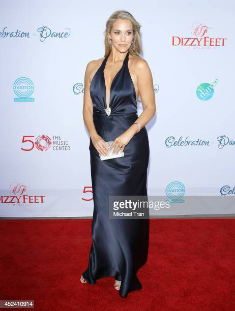 Elizabeth Berkley arrives at The Dizzy Feet Foundation's 4th Annual Celebration of Dance Gala held at Dorothy Chandler Pavilion on July 19 2014 in...