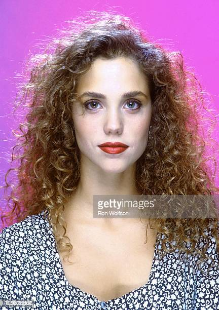 Elizabeth Berkley in a private photo shoot at Ron Wolfson's Studio on July 1990 in Studio City California