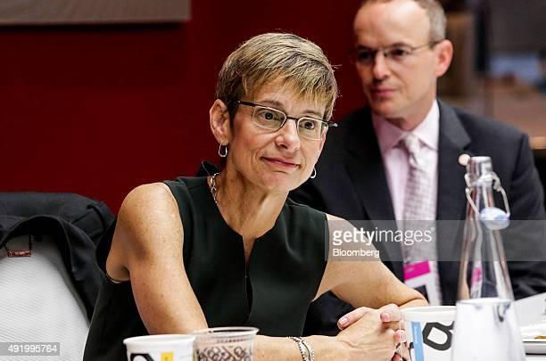 Elizabeth 'Beth' Garrett president of Cornell University listens during an interview in New York US on Friday Oct 9 2015 Garrett discussed the...