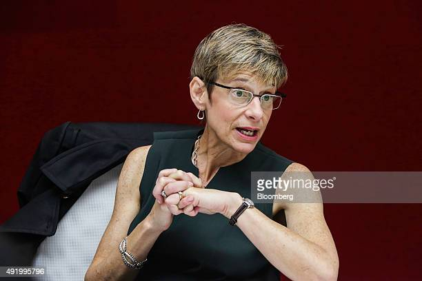 Elizabeth 'Beth' Garrett president of Cornell University speaks during an interview in New York US on Friday Oct 9 2015 Garrett discussed the expense...