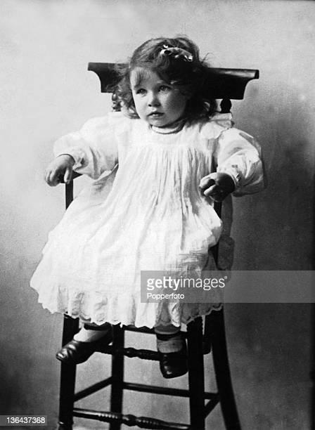 Elizabeth BowesLyon who later became Queen Elizabeth The Queen Mother pictured at the age of two circa 1902