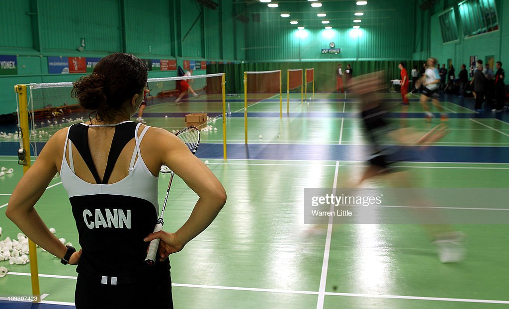Elizabeth Cann of the England Badminton squad looks on during training at the National Badminton Centre on February 23, 2011 in Milton Keynes, England.