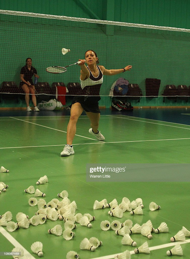 Elizabeth Cann of the England Badminton squad practices at the National Badminton Centre on February 23, 2011 in Milton Keynes, England.