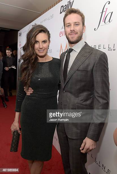 Elizabeth Chambers and actor Armie Hammer attend The DAILY FRONT ROW 'Fashion Los Angeles Awards' Show at Sunset Tower on January 22 2015 in West...
