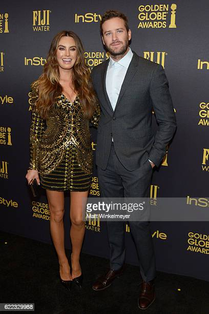 Elizabeth Chambers and Armie Hammer arrive at the Hollywood Foreign Press Association and InStyle celebrate the 2017 Golden Globe Award Season at...
