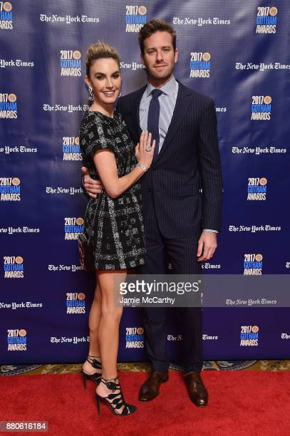 Elizabeth Chambers and Armie Hammer attend the 2017 IFP Gotham Awards at Cipriani Wall Street on November 27 2017 in New York City