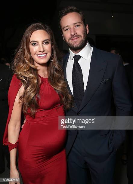 Elizabeth Chambers and Armie Hammer attend the after party for Focus Features' 'Nocturnal Animals' on November 11 2016 in Westwood California