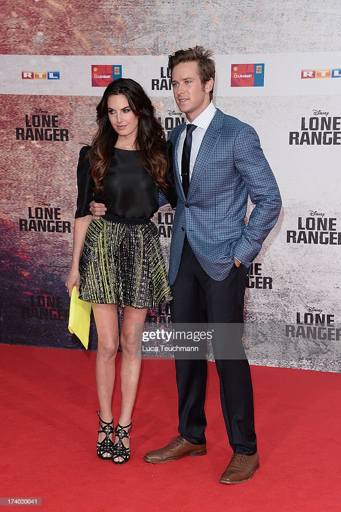 Elizabeth Chambers and Armie Hammer attend the premiere of 'Lone Ranger' at Sony Centre on July 19, 2013 in Berlin, Germany.