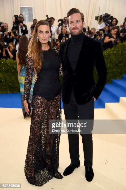 Elizabeth Chambers and Armie Hammer attend the 'Rei Kawakubo/Comme des Garcons Art Of The InBetween' Costume Institute Gala at Metropolitan Museum of...