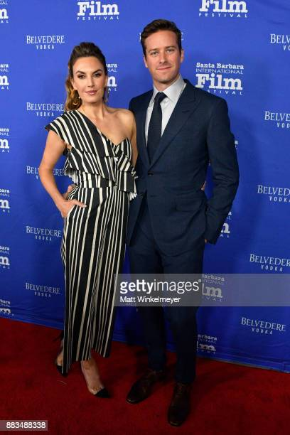 Elizabeth Chambers and Armie Hammer attend the Santa Barbara International Film Festival honors Judi Dench with the annual Kirk Douglas Award for...