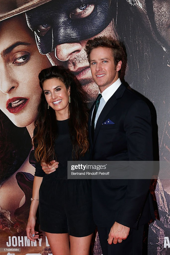 <a gi-track='captionPersonalityLinkClicked' href=/galleries/search?phrase=Elizabeth+Chambers&family=editorial&specificpeople=5295153 ng-click='$event.stopPropagation()'>Elizabeth Chambers</a> and Armine Hammer attend the Paris Premiere of 'Lone Ranger' on July 24, 2013 at UGC Normandy in Paris, France.
