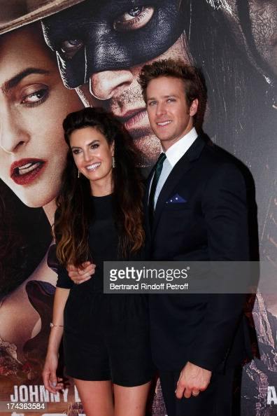 Elizabeth Chambers and Armine Hammer attend the Paris Premiere of 'Lone Ranger' on July 24 2013 at UGC Normandy in Paris France