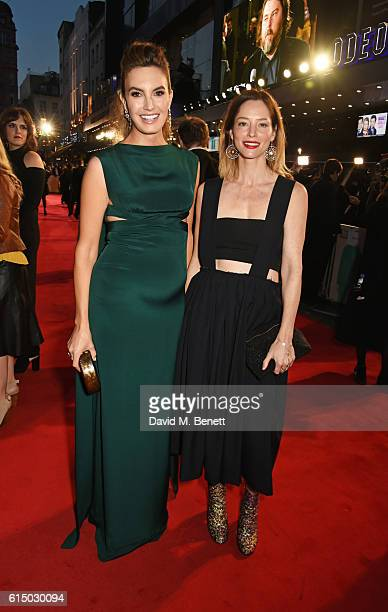 Elizabeth Chambers and Sienna Guillory attend the 'Free Fire' Closing Night Gala during the 60th BFI London Film Festival at Odeon Leicester Square...