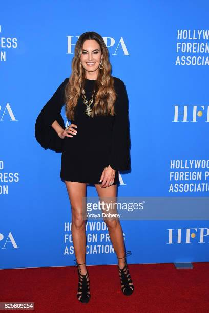Elizabeth Chambers attends the Hollywood Foreign Press Association's Grants Banquet at the Beverly Wilshire Four Seasons Hotel on August 2 2017 in...