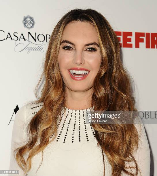 Elizabeth Chambers attends the premiere of 'Free Fire' at ArcLight Hollywood on April 13 2017 in Hollywood California