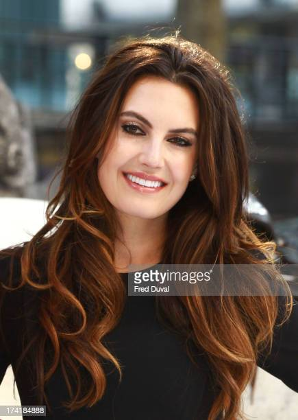 Elizabeth Chambers attends the premiere of 'The Lone Ranger' at Odeon Leicester Square on July 21 2013 in London England