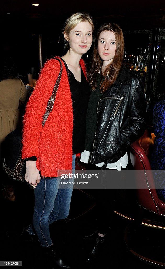 Elizabeth Debicki (L) and Catherine Debicki attend a post-screening party for 'The Last Impresario' during the 57th BFI London Film Festival at The Arts Club on October 13, 2013 in London, England.