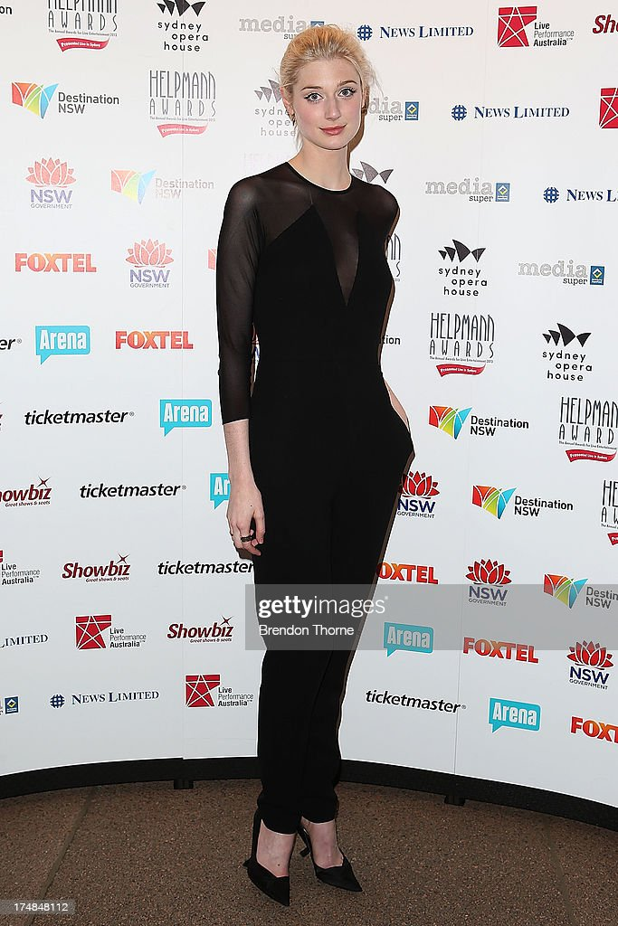 Elizabeth Debicki arrives at the 2013 Helpmann Awards at the Sydney Opera House on July 29, 2013 in Sydney, Australia.