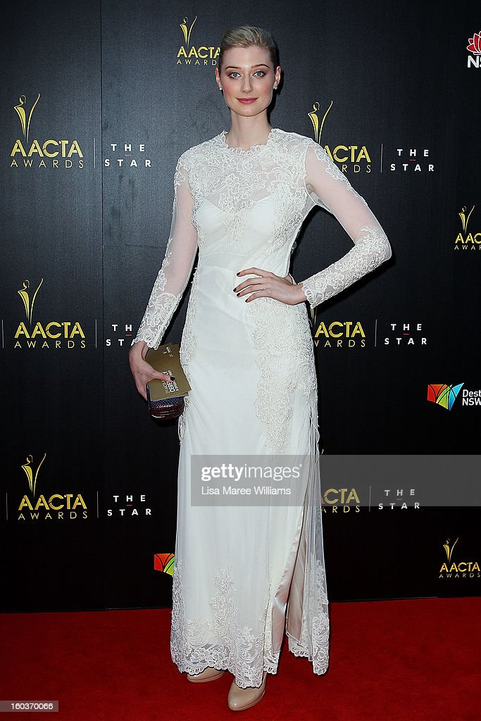 Elizabeth Debicki arrives at the 2nd Annual AACTA Awards at The Star on January 30, 2013 in Sydney, Australia.