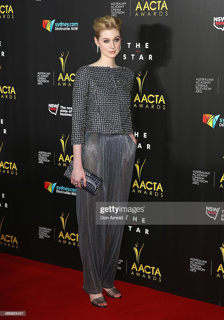 <a gi-track='captionPersonalityLinkClicked' href=/galleries/search?phrase=Elizabeth+Debicki&family=editorial&specificpeople=8410419 ng-click='$event.stopPropagation()'>Elizabeth Debicki</a> arrives at the 3rd Annual AACTA Awards Ceremony at The Star on January 30, 2014 in Sydney, Australia.
