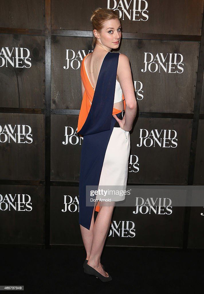 <a gi-track='captionPersonalityLinkClicked' href=/galleries/search?phrase=Elizabeth+Debicki&family=editorial&specificpeople=8410419 ng-click='$event.stopPropagation()'>Elizabeth Debicki</a> arrives at the David Jones A/W 2014 Collection Launch at the David Jones Elizabeth Street Store on January 29, 2014 in Sydney, Australia.