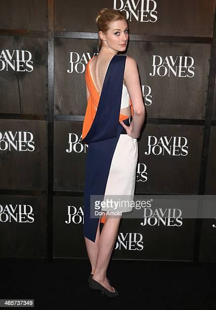 Elizabeth Debicki arrives at the David Jones A/W 2014 Collection Launch at the David Jones Elizabeth Street Store on January 29 2014 in Sydney...
