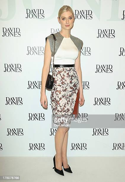 Elizabeth Debicki arrives at the David Jones Spring/Summer 2013 Collection Launch at David Jones Elizabeth Street on July 31 2013 in Sydney Australia