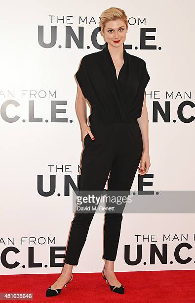 Elizabeth Debicki attends a photocall for 'The Man From UNCLE' at Claridge's Hotel on July 23 2015 in London England