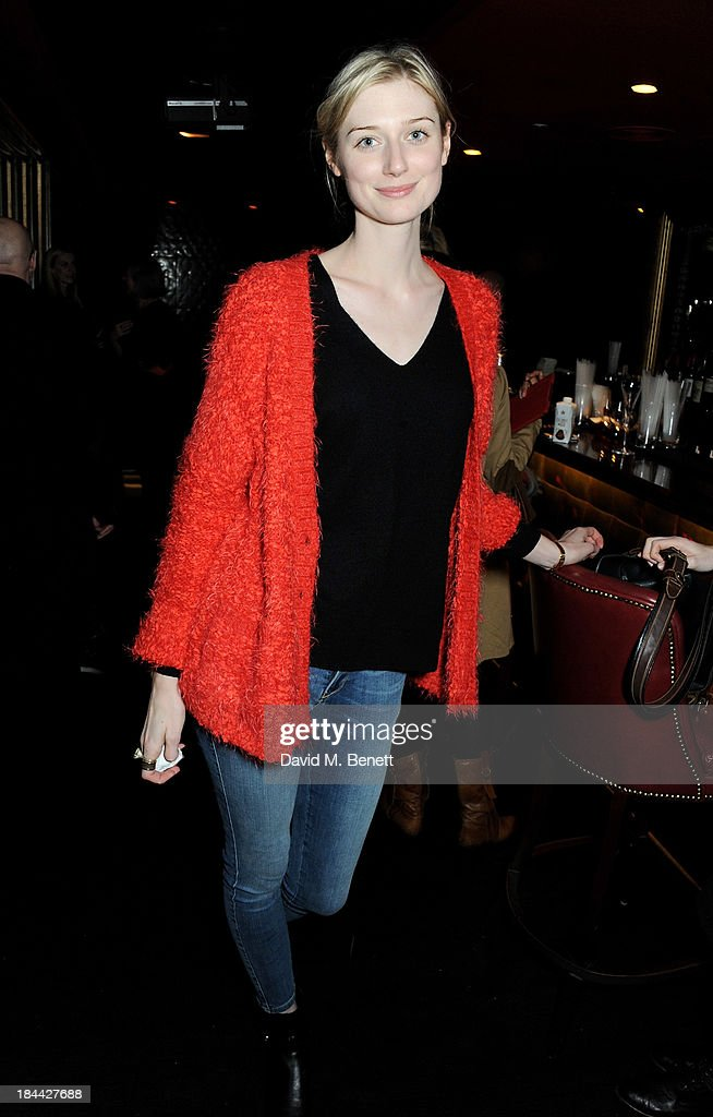 <a gi-track='captionPersonalityLinkClicked' href=/galleries/search?phrase=Elizabeth+Debicki&family=editorial&specificpeople=8410419 ng-click='$event.stopPropagation()'>Elizabeth Debicki</a> attends a post-screening party for 'The Last Impresario' during the 57th BFI London Film Festival at The Arts Club on October 13, 2013 in London, England.