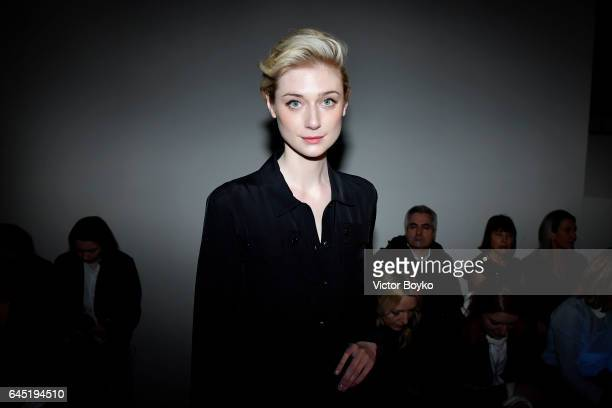 Elizabeth Debicki attends the Bottega Veneta show during Milan Fashion Week Fall/Winter 2017/18 on February 25 2017 in Milan Italy