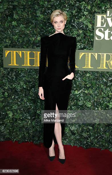 Elizabeth Debicki attends The London Evening Standard Theatre Awards at The Old Vic Theatre on November 13 2016 in London England
