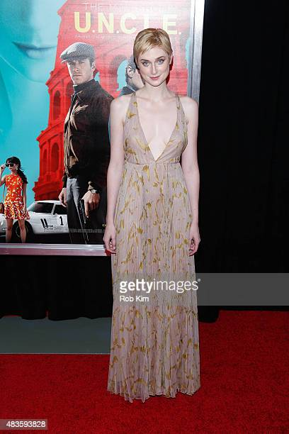 Elizabeth Debicki attends the New York Premiere for 'The Man From UNCLE' at Ziegfeld Theater on August 10 2015 in New York City