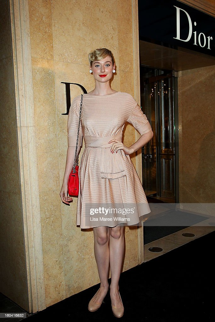 Elizabeth Debicki attends the opening of the Christan Dior Sydney store on January 31, 2013 in Sydney, Australia.